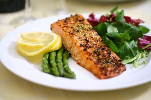 Healthy meal -  salmon dish